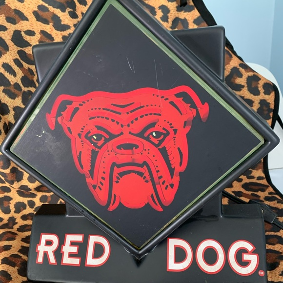 Red Dog Wall Art Vintage Beer Light Up Sign Poshmark